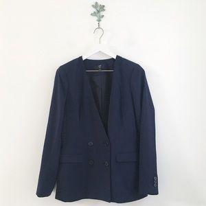 J. CREW French Girl Blazer 365 Crepe Navy Size 6